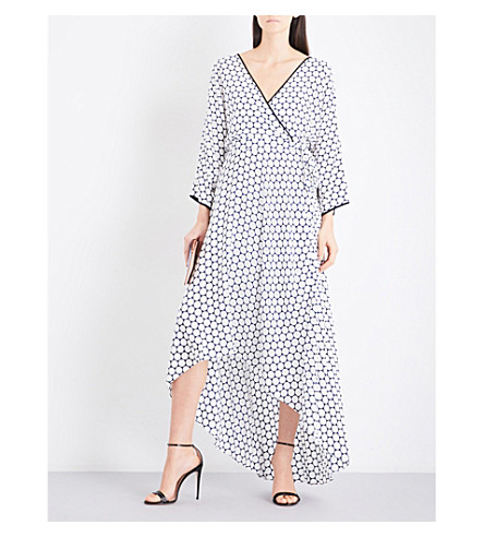 DIANE VON FURSTENBERG Asymmetric silk midi dress (Boltin+midnight