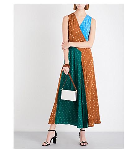 DIANE VON FURSTENBERG Polka-dot silk-crepe maxi dress (Arb+dt+kola/arb+dt+btl