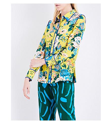DIANE VON FURSTENBERG Floral-print silk shirt (Bournier+ylw/klein+blu