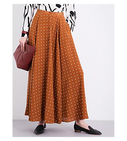 DIANE VON FURSTENBERG Polka dot-print mid-rise silk maxi skirt (Arbor+dot+kola