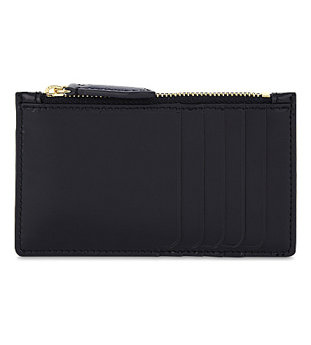 DIANE VON FURSTENBERG Leather card holder (Alexander+navy