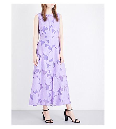 DIANE VON FURSTENBERG Devoré floral-pattern dress (Violet