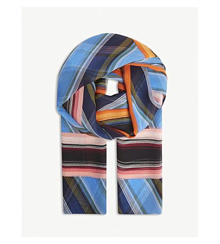 DIANE VON FURSTENBERG Sussex striped silk chiffon scarf (Sussex+stripe