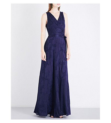 DIANE VON FURSTENBERG Wrap devoré maxi dress (Midnight