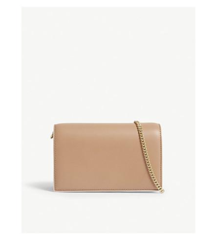 DIANE VON FURSTENBERG Mini Soirée leather shoulder bag (Camel