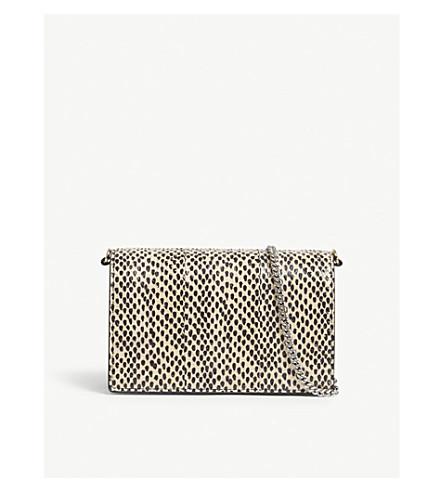 DIANE VON FURSTENBERG Mini Soirée leather shoulder bag (Black+multi