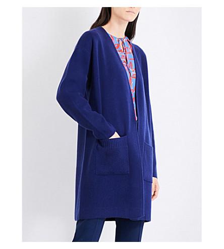 DIANE VON FURSTENBERG Longline cashmere cardigan (Deep+violet