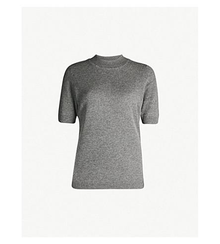 DIANE VON FURSTENBERG High neck cashmere jumper (Charcoal+melange