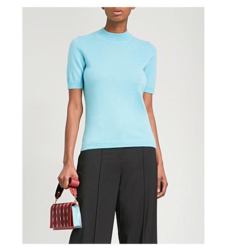 DIANE VON FURSTENBERG High neck cashmere jumper (Marine+grey+melagne