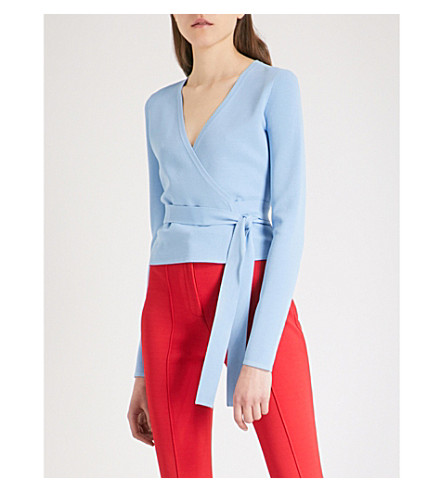DIANE VON FURSTENBERG V-neck knitted wrap top (Notebook