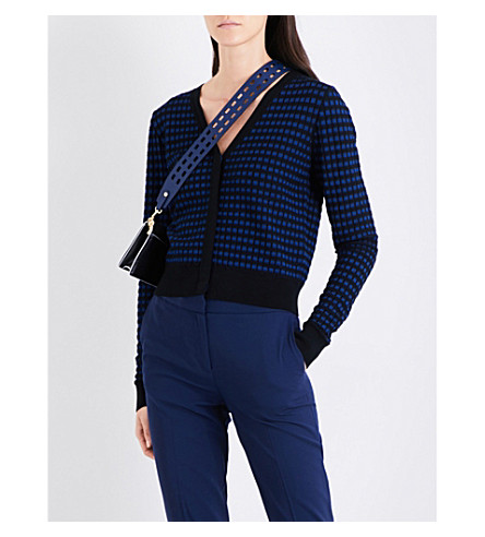 DIANE VON FURSTENBERG Striped knitted cardigan (Royal+black+denim