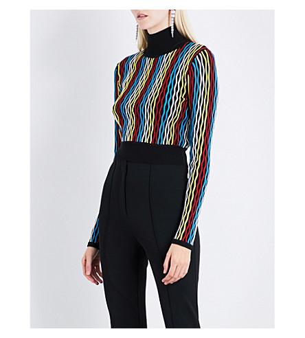 DIANE VON FURSTENBERG Turtleneck knitted jumper (Bodin+stripe+multi