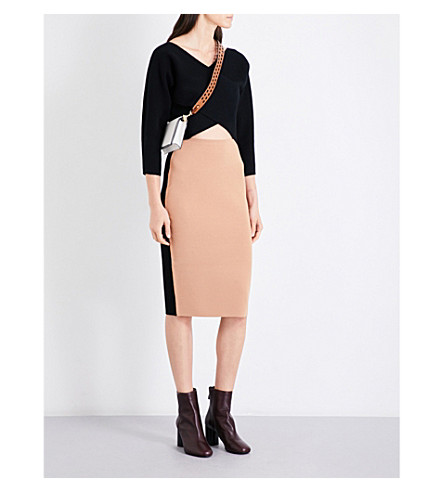 DIANE VON FURSTENBERG V-neck cashmere faux-wrap (Black