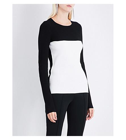 DIANE VON FURSTENBERG Colourblock knitted jumper (Black+ivory
