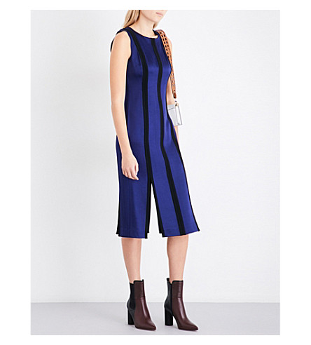 DIANE VON FURSTENBERG 定制镶板缎布迷笛连衣裙 (深 + 紫 + bblack