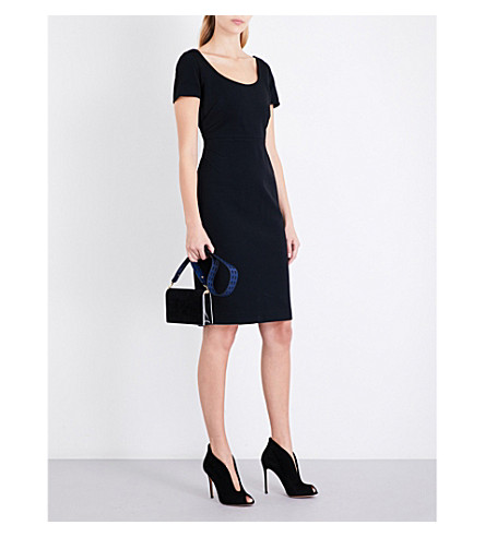 DIANE VON FURSTENBERG Scoop-neck fitted knitted dress (Black