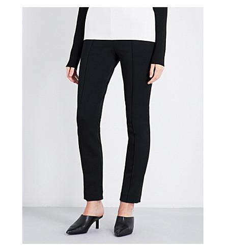 DIANE VON FURSTENBERG Skinny stretch-wool trousers (Black