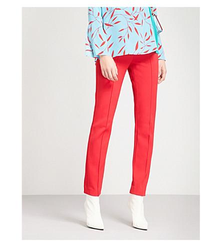 DIANE VON FURSTENBERG Skinny stretch-wool trousers (Lipstick