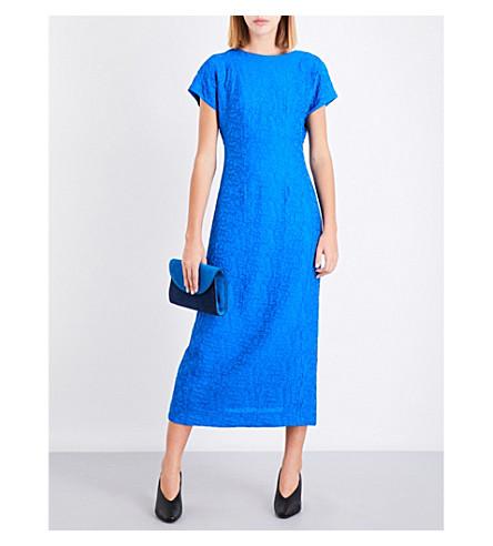 DIANE VON FURSTENBERG Boat-neck jacquard dress (Bright+blue