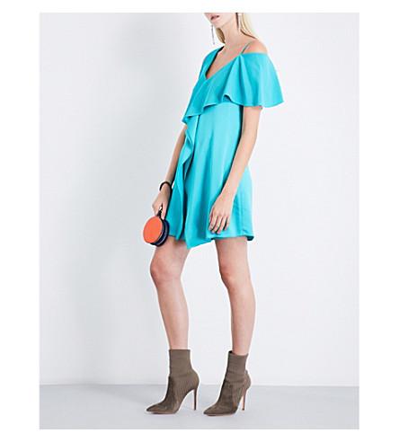 DIANE VON FURSTENBERG Asymmetric satin mini dress (Aquamarine