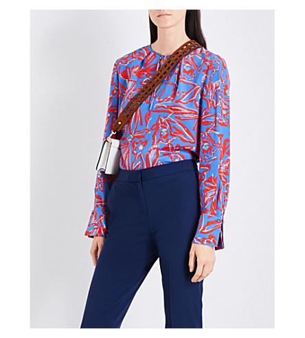 DIANE VON FURSTENBERG Elsden-print silk-crepe de chine shirt (Elsden+denim