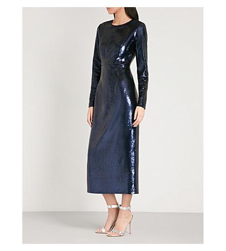 DIANE VON FURSTENBERG Pencil-silhouette sequin dress (Alexander+navy