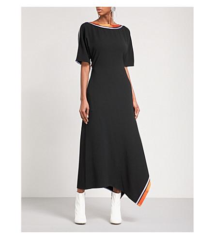 DIANE VON FURSTENBERG Open Back Ribbon crepe midi dress (Black