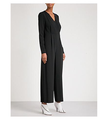 DIANE VON FURSTENBERG V 领绉连衫裤 (黑色