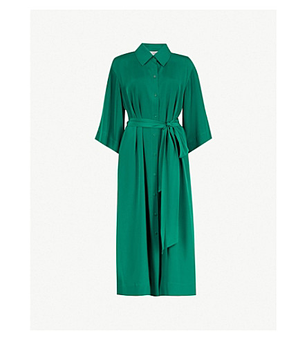 DIANE VON FURSTENBERG Belted silk shirt dress (Pine