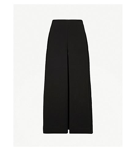 DIANE VON FURSTENBERG Wide high-rise crepe culottes (Black