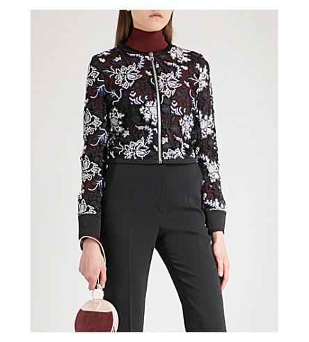 DIANE VON FURSTENBERG Honeycomb lace-embroidered jacket (Black+multi