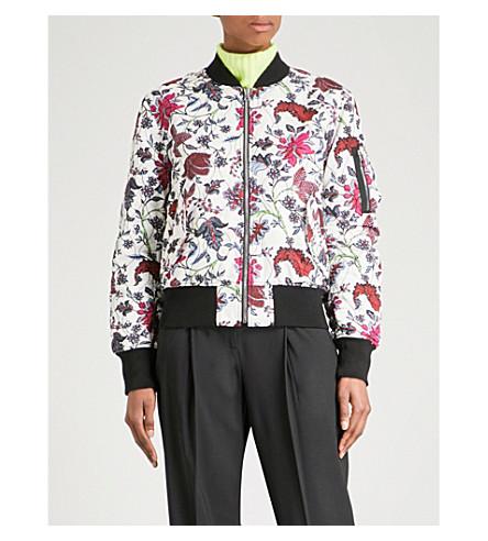 DIANE VON FURSTENBERG Reversible floral-print padded bomber jacket (Canton+ivory