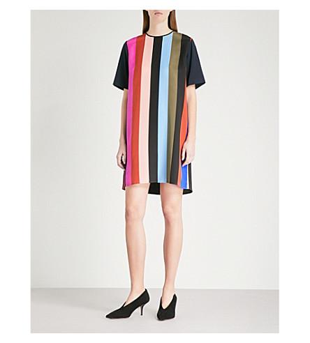 DIANE VON FURSTENBERG Striped silk-crepe mini dress (Carson+stripe+multi