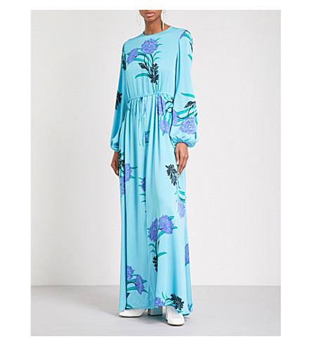 DIANE VON FURSTENBERG Floral-print stretch-silk maxi dress (Farren+marine