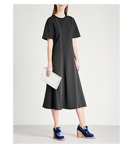 DIANE VON FURSTENBERG Contrast-stitch ponte dress (Black