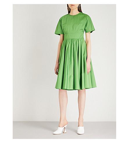 DIANE VON FURSTENBERG Fit-and-flare cotton-blend dress (Grass