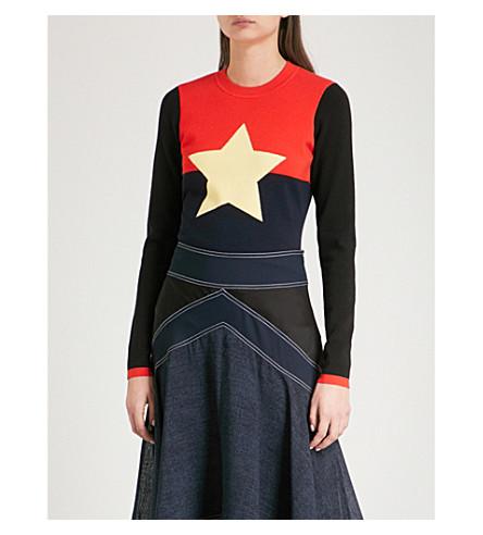 DIANE VON FURSTENBERG Star-intarsia wool-blend jumper (Poppy+multi