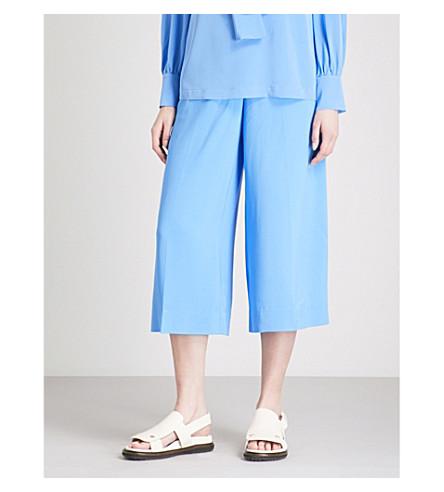 DIANE VON FURSTENBERG Wide-leg cropped high-rise trousers (Hydranger