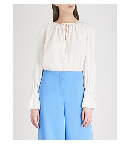 DIANE VON FURSTENBERG Neck-tie silk blouse (Ivory