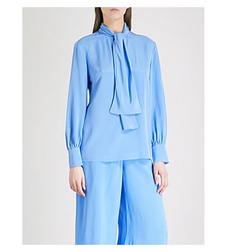 DIANE VON FURSTENBERG Neck-tie silk blouse (Hydranger