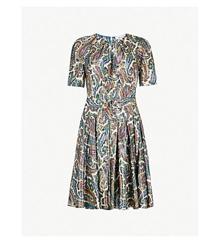 DIANE VON FURSTENBERG Paisley silk-blend dress (Barton+logo+ivory