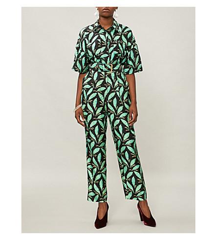 black VON DIANE print FURSTENBERG DIANE silk jumpsuit Mason Paisley VON qwz6OEp6x