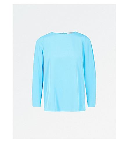 DIANE VON FURSTENBERG Cinched-sleeve silk-crepe top (Horizon