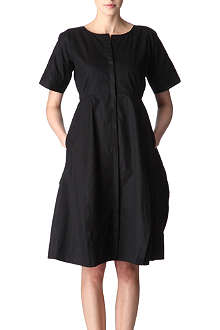 JIL SANDER Cotton-twill dress