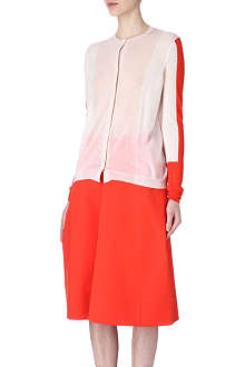 JIL SANDER Colour-block cashmere cardigan