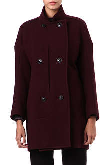 JIL SANDER Double-breasted wool cocoon coat