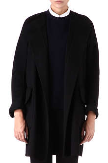 JIL SANDER Collarless cashmere coat