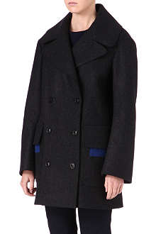 JIL SANDER Patch-pocket peacoat