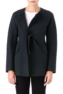 JIL SANDER Self-tie wool coat