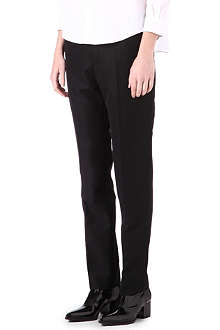 JIL SANDER Wool-blend side-dart trousers